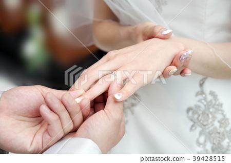 Wedding Ring Exchange Stock Photo 39428515 Pixta
