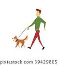 man dog vector 39429805