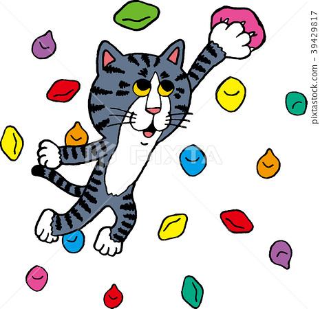 Cat climbing 39429817