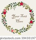 Vector floral concept of circle frame  39430197