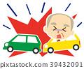 교통 사고, 할아버지, 벡터 39432091