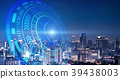 Smart city and technology circles. Graphic design 39438003