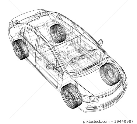 Concept car blueprint - Stock Illustration [39440987] - PIXTA