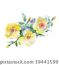 Bouquet flower in a watercolor style isolated. 39441599