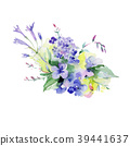 Bouquet flower in a watercolor style isolated. 39441637