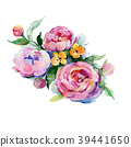 Bouquet flower in a watercolor style isolated. 39441650