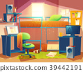 Vector illustration of dorm room with furniture 39442191