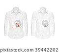 Vector realistic shirts before and after washing 39442202