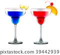 Set cocktails or mocktails in margarita glass 39442939