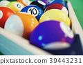 3D illustration recreation sport. Billiards balls 39443231