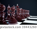 3D illustration Chess game on board. Concepts 39443260