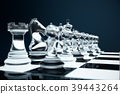 3D illustration Chess game on board. Concepts 39443264
