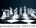 3D illustration Chess game on board. Concepts 39443266