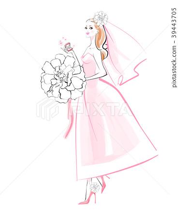 新娘 婚禮 一個年輕成年女性 39443705