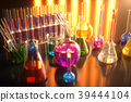 3d illustration of a chemical reaction, the 39444104