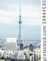 city skyline aerial view of bunkyo, tokyo, Japan 39444593