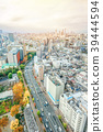 city skyline aerial view of bunkyo, tokyo, Japan 39444594