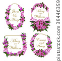 Flowers frames vector icons for wedding save date 39446359