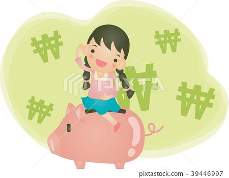 Savings Illustrations, Vector, Illustration 39446997