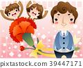 남자, 어린이, 꽃 39447171