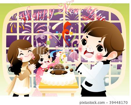 New Year illustration, vector, illustration 39448170