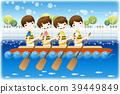 일러스트, 여름, 수상스포츠 39449849