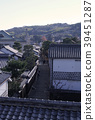 Townscape of Kurashiki and rickshaw 39451287