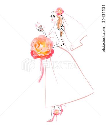 粉紅色的花束新娘 39452531