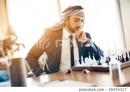Two arab businessmen  39454327
