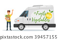 fruit and vegetables delivery car 39457155