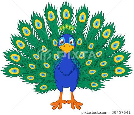 Cartoon beautiful peacock  39457641