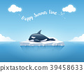 Orca or the killer whale sleeping on the iceberg. 39458633