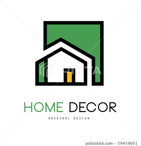 Geometric Vector Logo With Abstract Building Stock Illustration