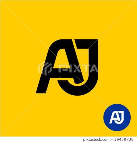 AJ letters symbol. A and J letters ligature. 39459739