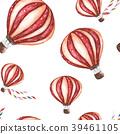 seamless pattern with cartoon hot air balloon. 39461105