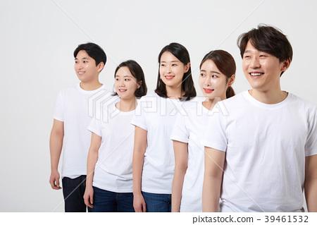 친구,동료,남자,여자,한국인 39461532