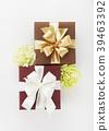 선물, 카네이션, 흰배경 39463392