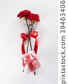 리본, 빨강, 선물 39463406
