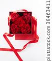 리본, 빨강, 상자 39463411