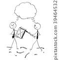 Cartoon of Two Businessmen Striking a Match 39464532