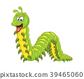 cartoon millipede with tongue character isolated  39465060