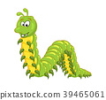 cartoon millipede with teeth character isolated  39465061