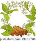 cinnamon  vector frame  39469708