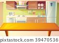 kitchen, interior, cartoon 39470536