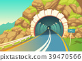 Vector illustration of tunnel, highway 39470566