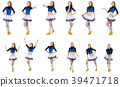 Cheerleader isolated on the white background 39471718