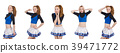 Cheerleader isolated on the white background 39471772