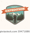 Outdoor expedition patch. Vector illustration. 39471886