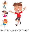 happy, children, vector 39474917