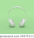 Headphone green color minimal and pastel concept 39475311